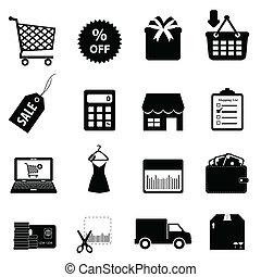 nakupování, a, ecommerce