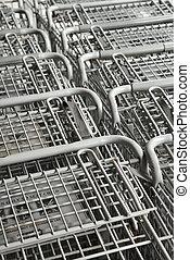 nakupování, carts.