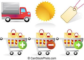 nakupování, dát