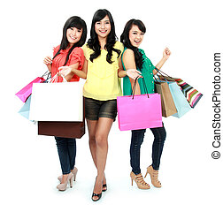 nakupování, dohromady