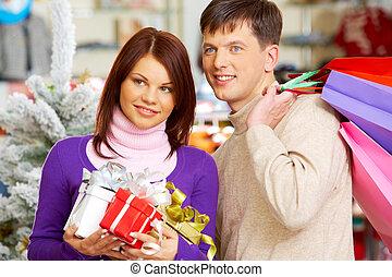 nakupování, dvojice