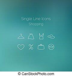 nakupování, ikona, dát, nahý, s, svobodný, zaměstnání.