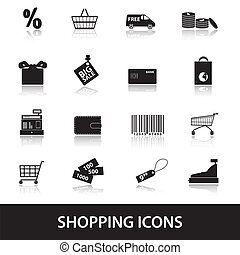 nakupování, ikona, eps10
