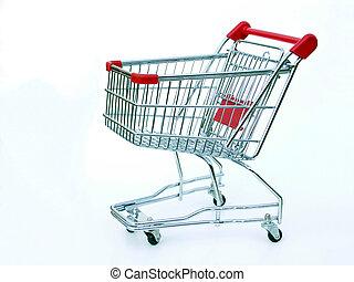 nakupování, neobsazený, kára
