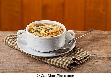 naleśnik, zupa, bawarka, puchar