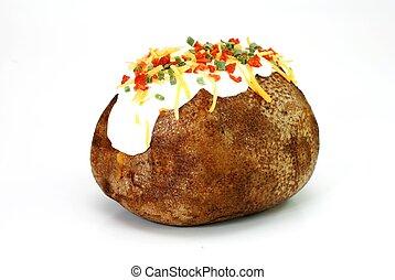 naložený, brambor, pečený