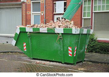 naložený, dumpster