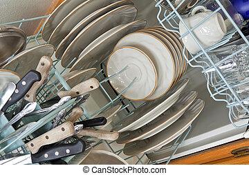 naložený, myčka na nádobí