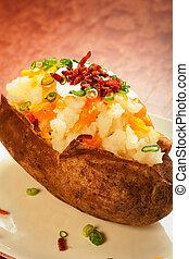 naložený, péct brambor
