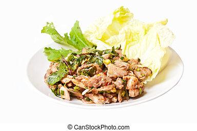 NAM TOK MOO - Thai food call NAMTOK MOO from spicy...