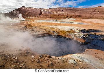 Namafjal llandscape in Iceland