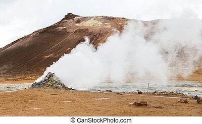 Namafjall geothermal area in Iceland - Namafjall geothermal...