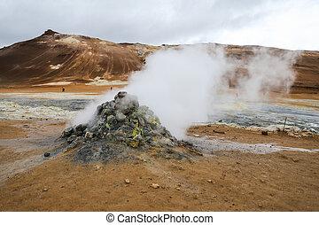 namafjall, geothermisch, bereich, in, island