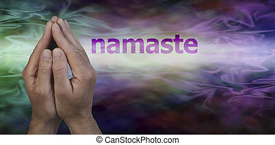 Namaste Greeting Website Header