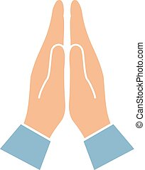 Namaste hands greeting symbol - Namaste hands greeting asian...