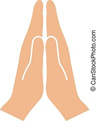 Namaste hands sign - Namaste hands vector sign