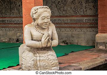 Namaste - Statu in a namaste poe in Baali