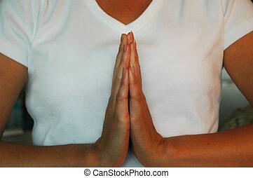Namaste Yoga - Namaste hand placement for yoga