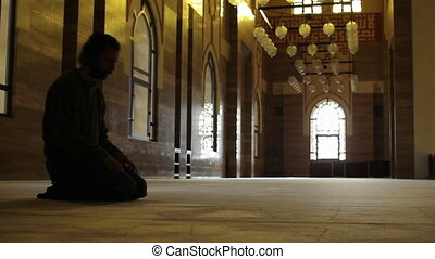 namaz: muslim worship in mosque