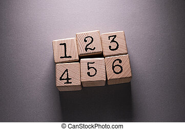 Nambers Word with Wooden Cubes