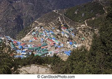 namche bazaar everest region nepal