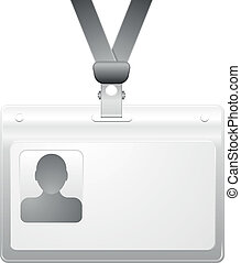 name badge - detailed illustration of a name badge with...