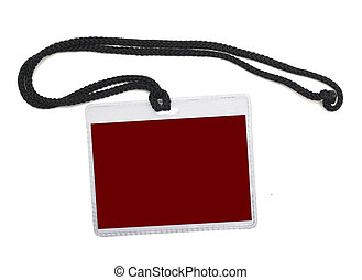 Name badge isolated on a white background