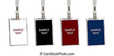 Name badges isolated on a white background
