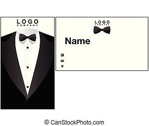 Name Card Tuxedo Background Vector Image