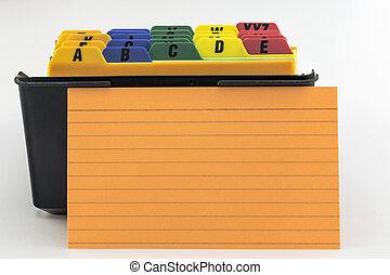 Name Filer with Orange Card