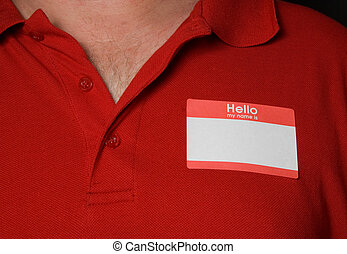 Name Tag - A blank generic name tag that says nothing.