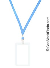 Name Tag Badge Holder, vector illustration, isolated on white