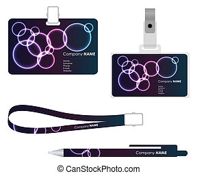 Name tag for id card with special plasma design