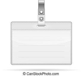 Name Tag Isolated on white - Vector Name Tag Isolated on...
