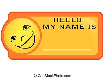 name tag isoolated on a white background