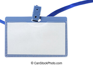 Name tag. It is isolated on a white background