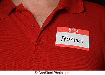 Name Tag - A generic name tag that says normal.