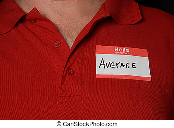 Name Tag - A generic name tag that says average