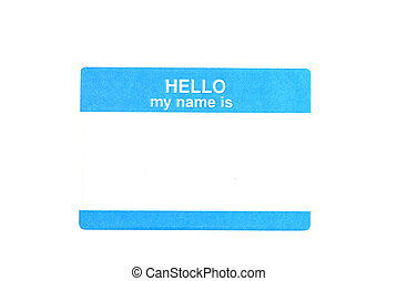 Name Tag - Name tag isolated on white background with...