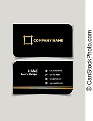Namecard template in black with space for name and contact ...
