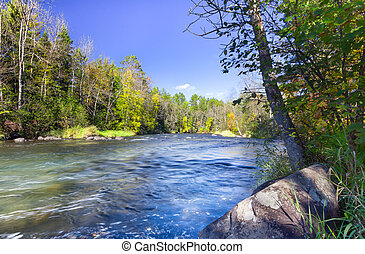 Namekagon River near Hayward, Wisconsin - Namekagon River at...