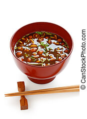 nameko mushrooms miso soup