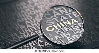 namen, van, landen, en, brandpunt, op, china