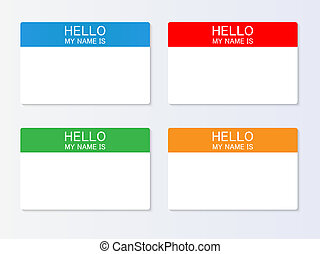 Nametag illustration