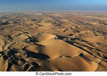namib, 航空写真, 砂漠, 光景