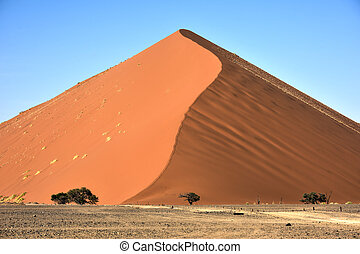 Namib Desert, Namibia - High red dunes, located in the Namib...
