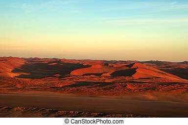Namib landscape from - Namib landscape shot from a balloon. ...