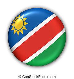 Namibia Flag - World Flag Button Series - Africa - Namibia (...