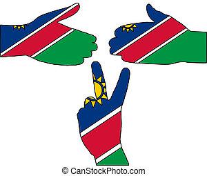 Namibia hand signal