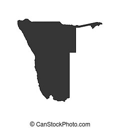 Namibia map silhouette